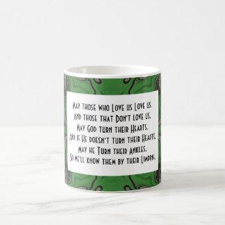 funny irish blessing classic white coffee mug