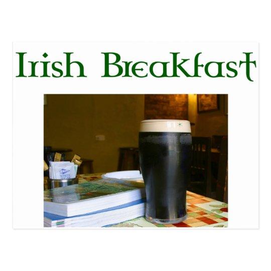 Funny Irish Breakfast Irish Beer lovers gear Postcard