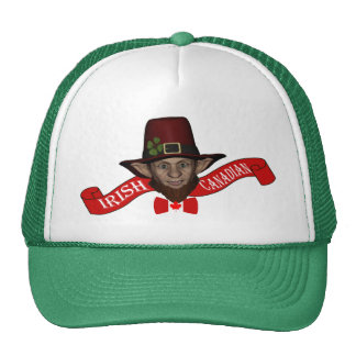 Funny Irish Canadian St Patrick's day Trucker Hat