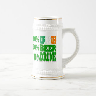 Funny Irish diva  St Patrick's day Beer Stein