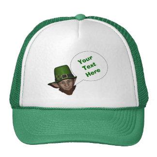 Funny  Irish leprechaun Mesh Hats