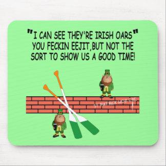 Funny Irish leprechauns Mouse Pad