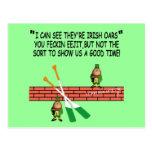 Funny Irish leprechauns Post Card