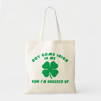 Funny Irish Pregnant Maternity Gift Tote Bag