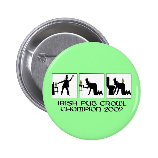Funny Irish pub crawl Button