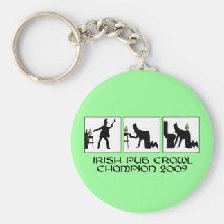 Funny Irish pub crawl Key Chain