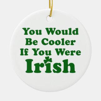 Funny Irish Saying Christmas Tree Ornaments