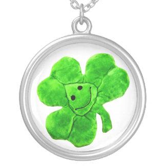 Funny Irish Shamrock Lucky Clover Necklace