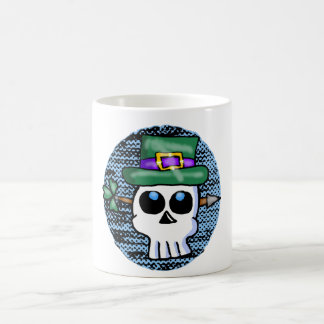 Funny Irish Skull Cartoon Coffee Mug