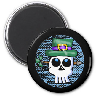 Funny Irish Skull Cartoon Magnet