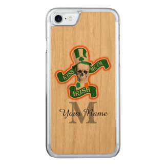 Funny Irish skull monogrammed Carved iPhone 8/7 Case