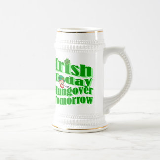 Funny Irish St Patrick's day 18 Oz Beer Stein