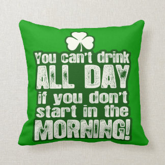 Funny Irish St Patrick's Day Throw Pillows