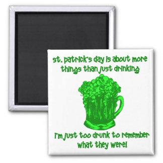 Funny Irish St Patricks Drinking Magnet