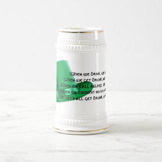 Funny Irish Toast #1 (green hat) Beer Stein
