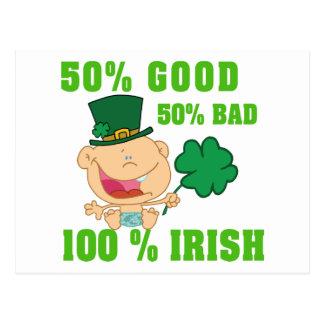 Funny Irish Toddler Baby Postcard