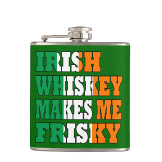 Funny Irish whiskey Hip Flask