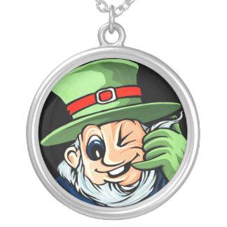 Funny Irishman Round Pendant Necklace