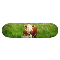 Funny Ironic Cow 4André Skateboard Deck