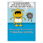 Funny Irritable Bowl Syndrome Dog Birthday Card
