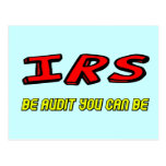 Funny IRS Audit T-shirts Gifts Postcard