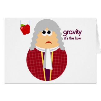 Funny Isaac Newton Card