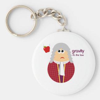 Funny Isaac Newton Keychain