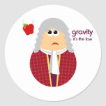 Funny Isaac Newton Stickers Round Sticker