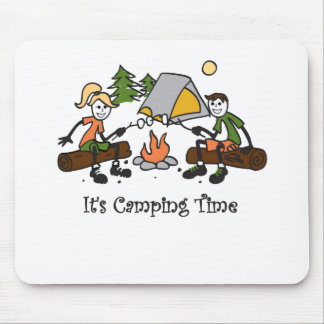 Funny It s Camping Time Outdoor Sport Mousepads