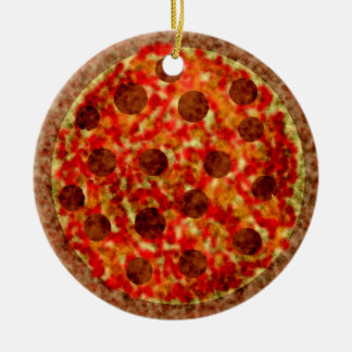 Funny Italian American Pizza Christmas Ornament