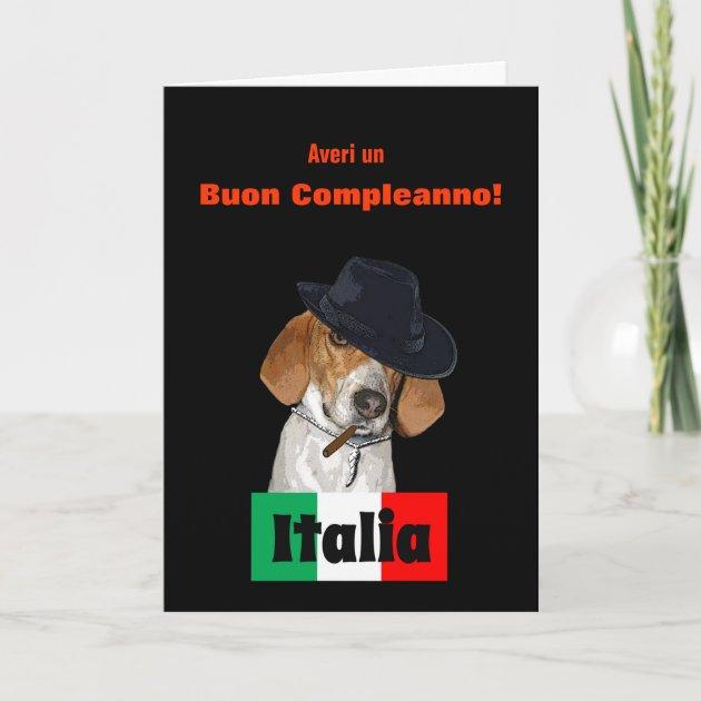 Funny Italian Birthday Mobster Charley Dog Card Zazzlecom