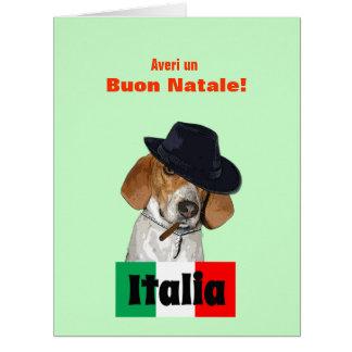 Funny Italian Christmas Mobster Charley Dog Card