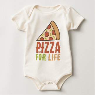 Funny Italian Food Pepperoni Pizza Lover for Life Baby Bodysuit