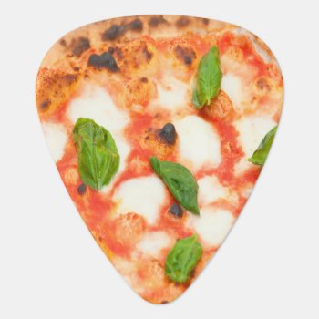 Funny Italian Margherita Pizza Slice Guitar Pick by funnycutemonsters at Zazzle