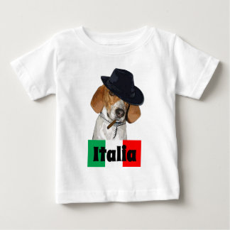 Funny Italian Mobster Charley Dog Baby T-Shirt