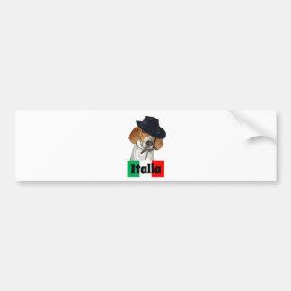 Funny Italian Mobster Charley Dog Bumper Sticker