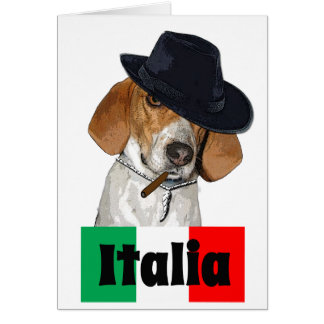 Funny Italian Mobster Charley Dog Card