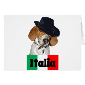Funny Italian Mobster Charley Dog Greeting Cards