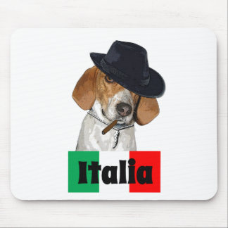 Funny Italian Mobster Charley Dog Mouse Pad