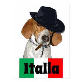 Funny Italian Mobster Charley Dog Postcard