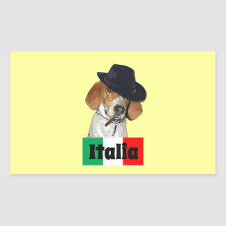 Funny Italian Mobster Charley Dog Sticker