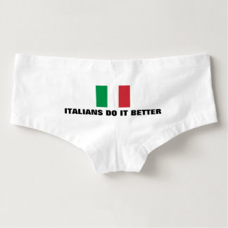 Funny italians do it better womens flag underwear