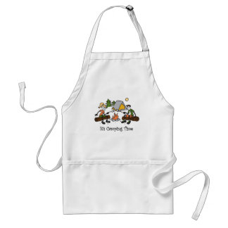 Funny It's Camping Time Outdoor Sport Adult Apron