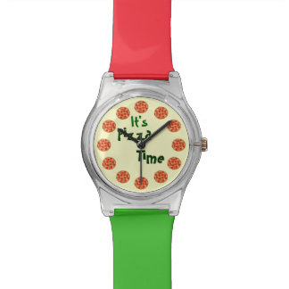 Funny It's Pizza Time Watches