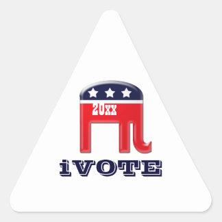 Funny iVote Republican Triangle Sticker
