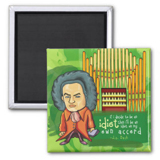 Funny J.S. Bach Music Magnet