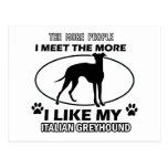 Funny jack italian greyhound designs postcard