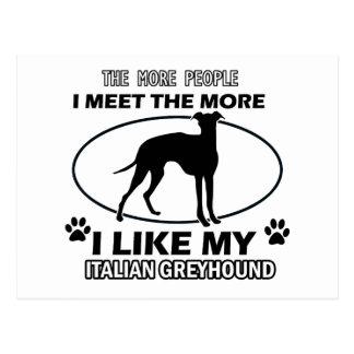 Funny jack italian greyhound designs post cards