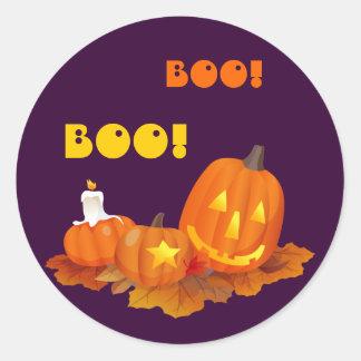 Funny Jack O'Lantern Halloween Stickers