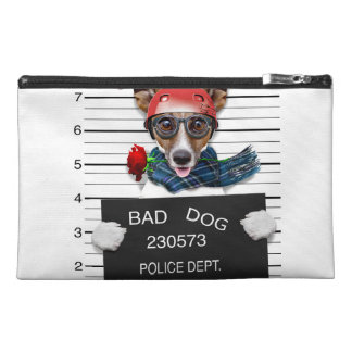 Funny jack russell ,Mugshot dog Travel Accessory Bag